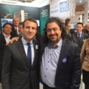 Emmanuel Macron congratulations at Hannover Messe 2016